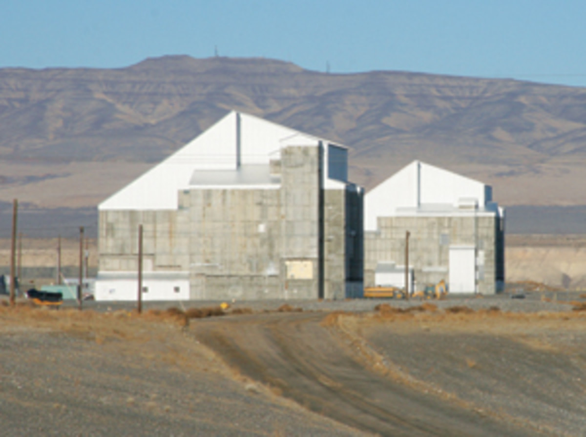 "Entombed in concrete, these reactors at the Hanford Site will sit in ""Interim Safe Storage"" for 75 years. (Bijal Trivedi)"