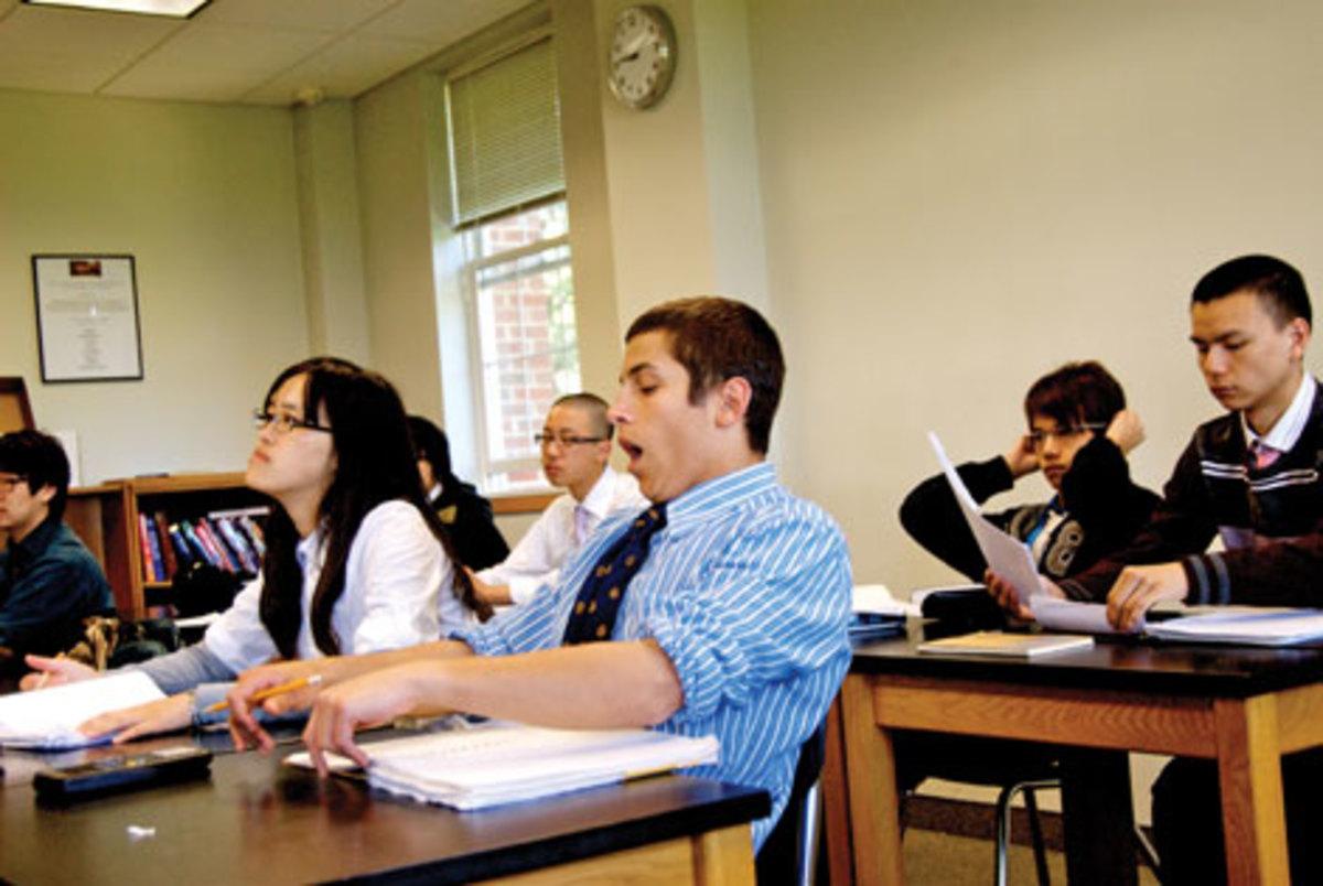9:10 a.m. — Ethan in class. (Gale Zucker)