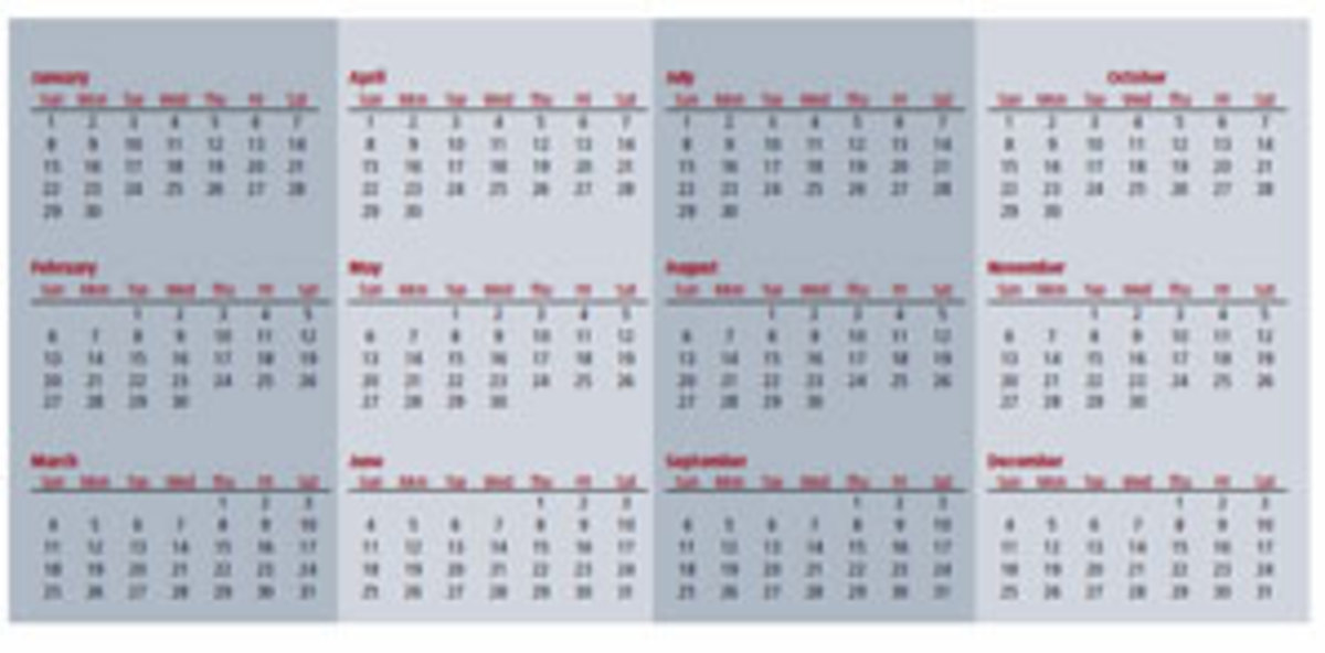 CLICK TO ENLARGE Here's a look at the Hanke-Henry Permanent Calendar, which gets rid of floating days of the week and leap years while adding an extra week onto the end of Decemberevery five or six years.