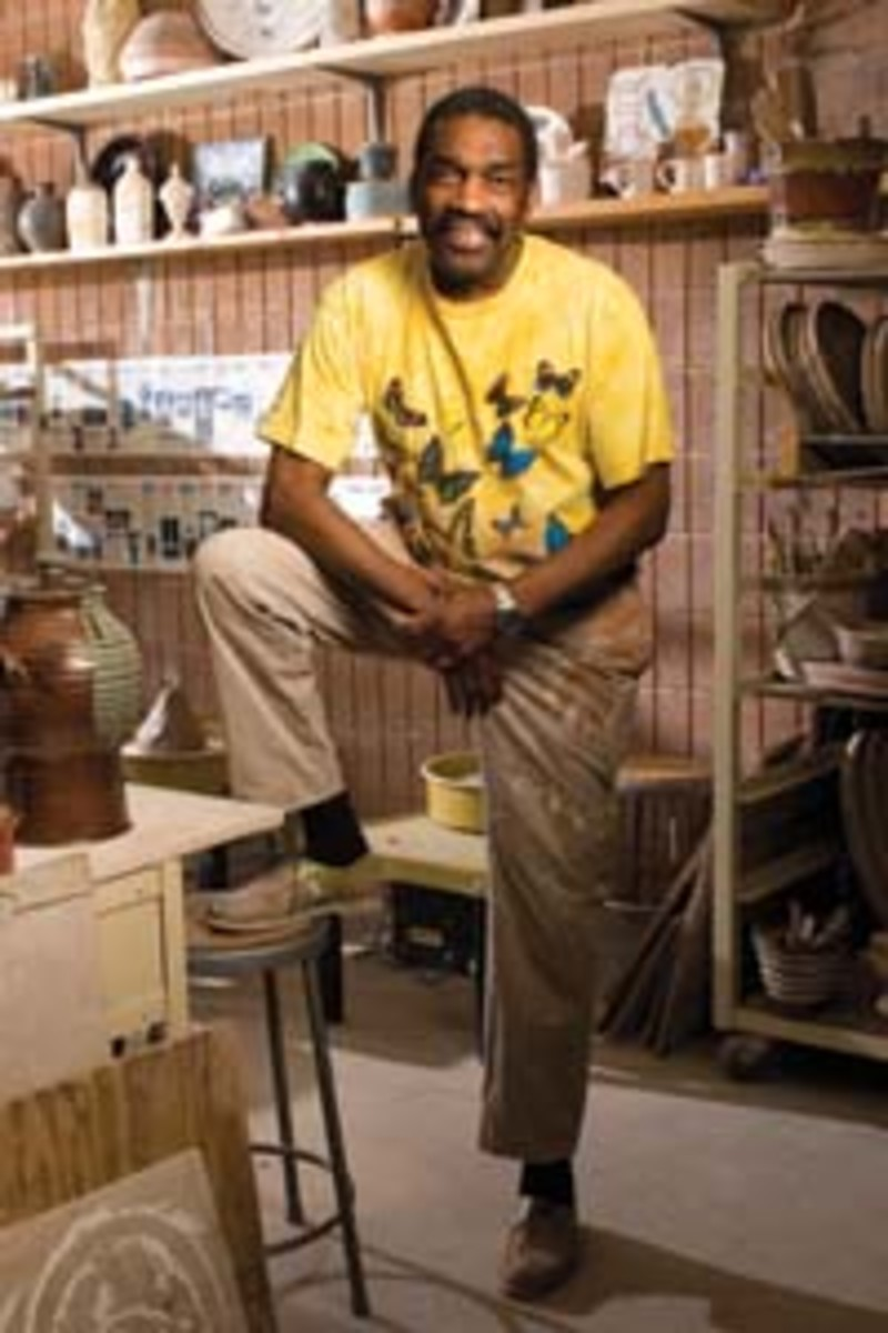 Bill Strickland in the Manchester Craftsmen's Guild pottery studio. (Tom Gigliotti)