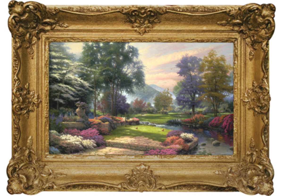 "Paintings like  ""Living Waters: Golfer's Paradise, Hole One"" by Thomas Kinkade adorn millions of homes. (Getty Images)"