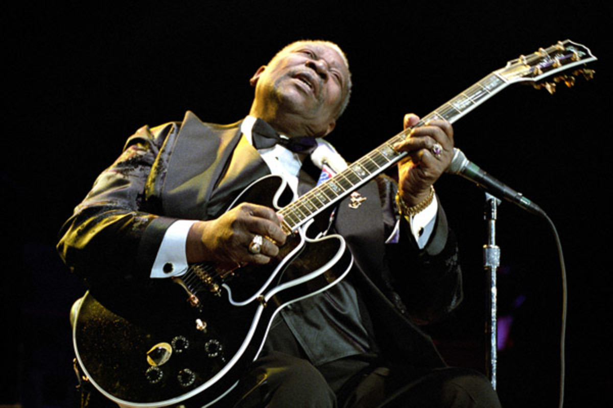 "B.B. King's relationship with his beloved guitar, ""Lucille,"" may be his longest. (PHOTO: SHUTTERSTOCK)"