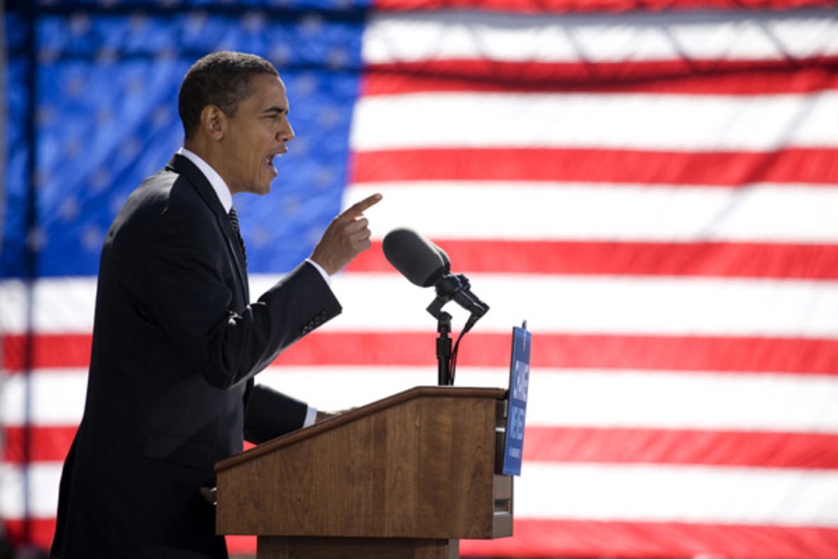 Barack Obama speaks at a campaign rally in North Carolina in 2008. (PHOTO: SHUTTERSTOCK)