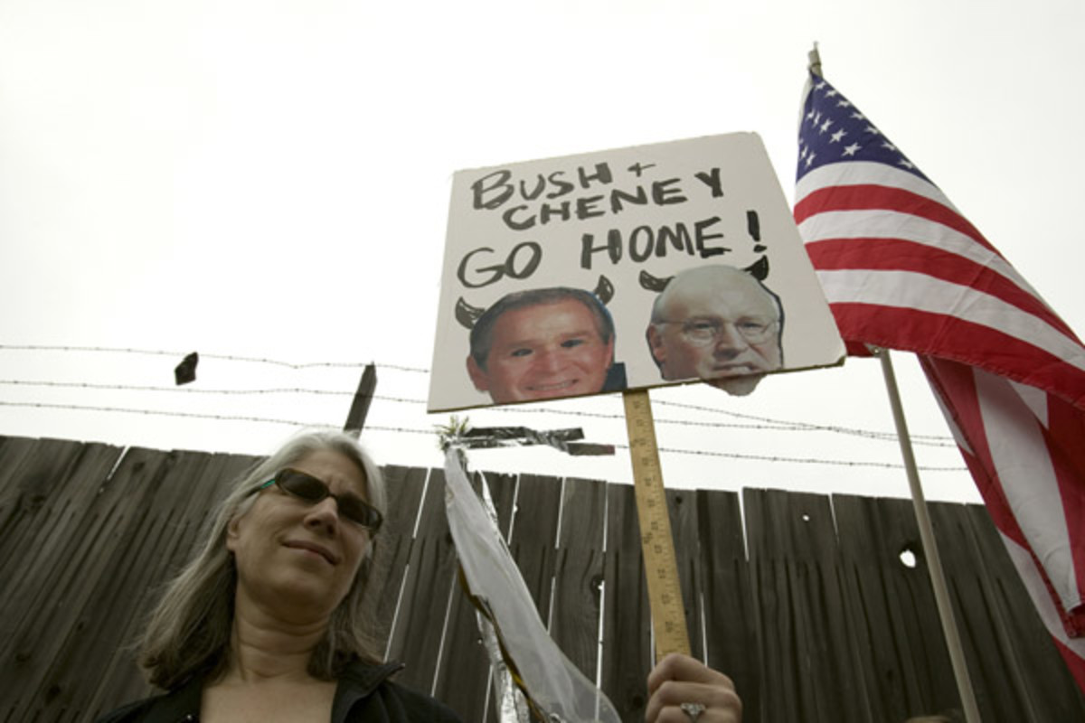 A protester Santa Barbara, California in 2007 (PHOTO: SHUTTERSTOCK)