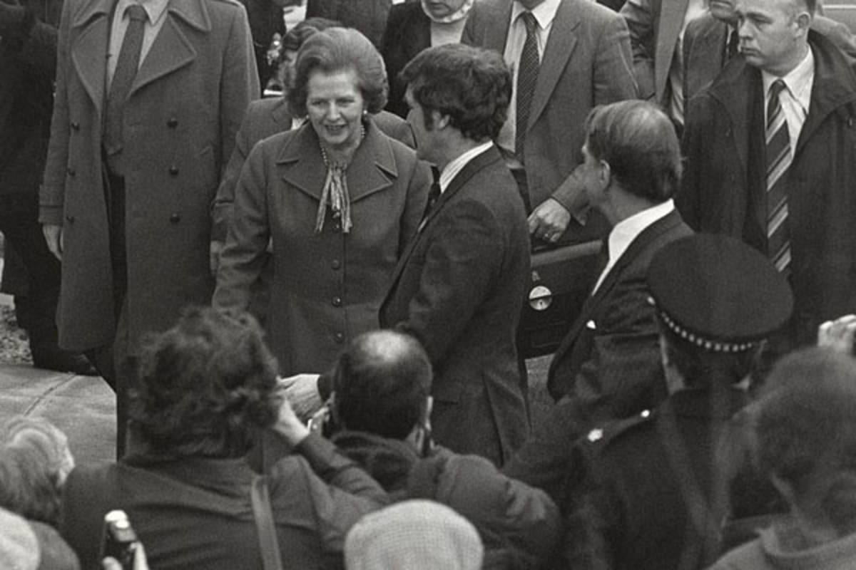 Margaret Thatcher on a visit to Salford. (PHOTO: UNIVERSITY OF SALFORD/FLICKR)
