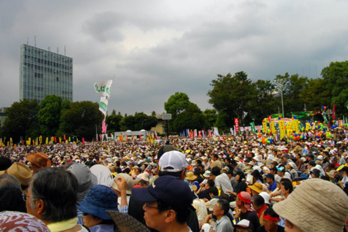Anti-nuclear power plant rally at Meiji Shrine Outer Garden. (PHOTO: PUBLIC DOMAIN)
