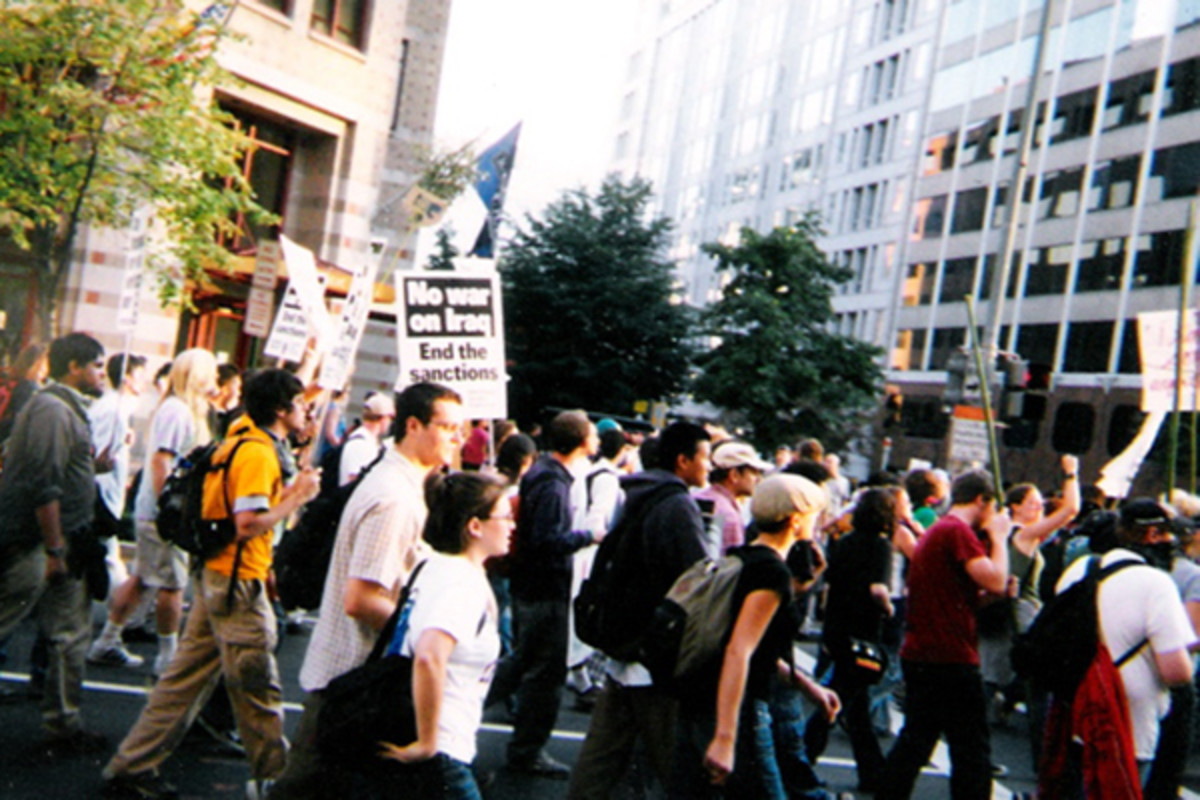 Marching against sanctions and the invasion of Iraq. (PHOTO: DM2011/WIKIMEDIA COMMONS)