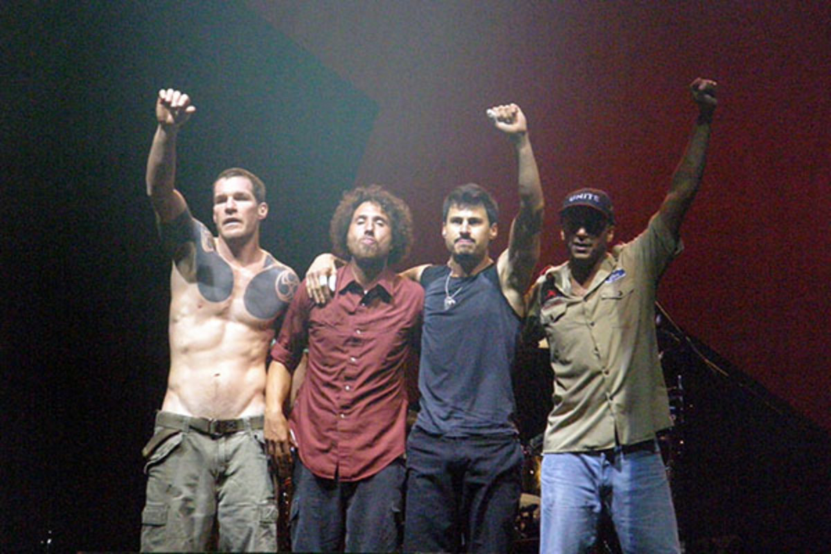 Rage Against the Machine at the L.A. Rising Music Festival in 2011. (PHOTO: PENNER/WIKIMEDIA COMMONS)