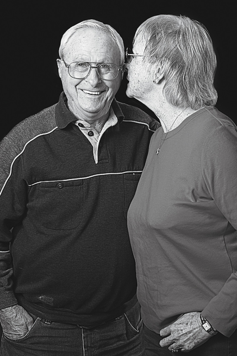 "Charlie and Margaret: ""We look at each other and say 'Can you believe this happened?' When I lost my husband I thought it would be like that forever."" (Photo: Lucas Aznar Miles)"