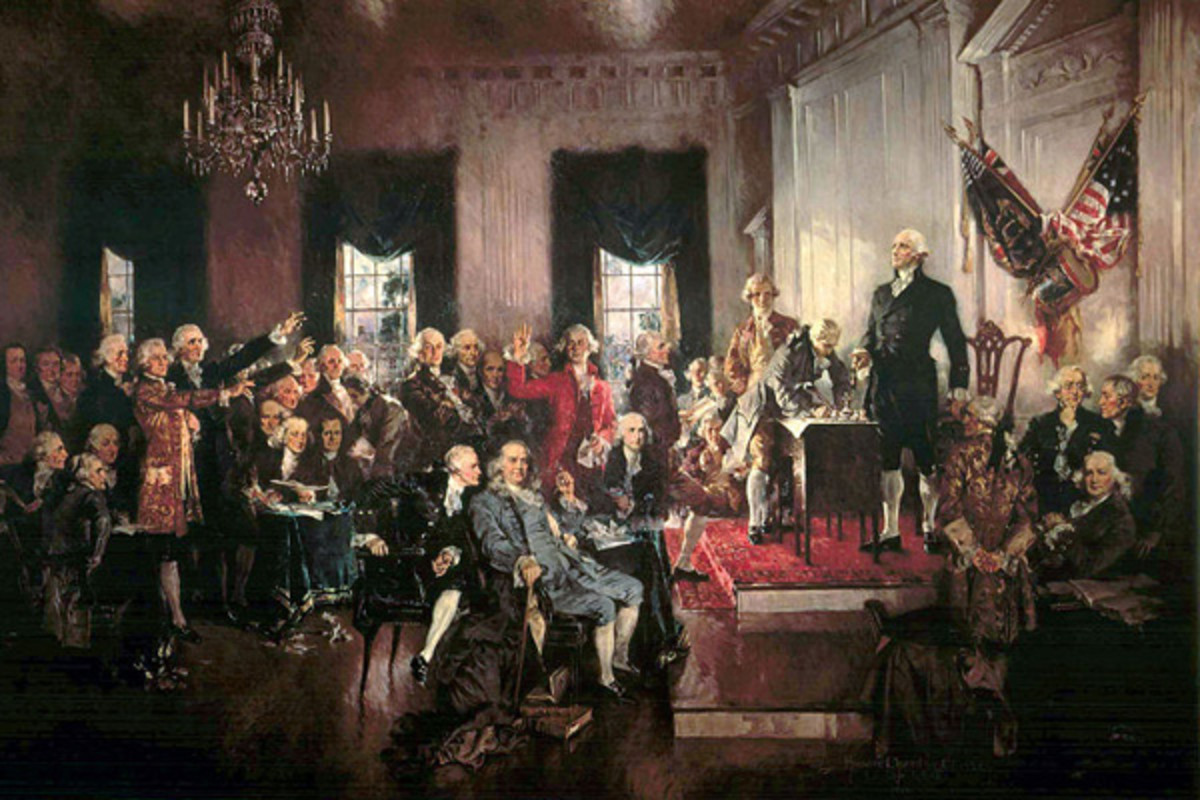 Scene at the signing of the Constitution of the United States. (PAINTING: PUBLIC DOMAIN)