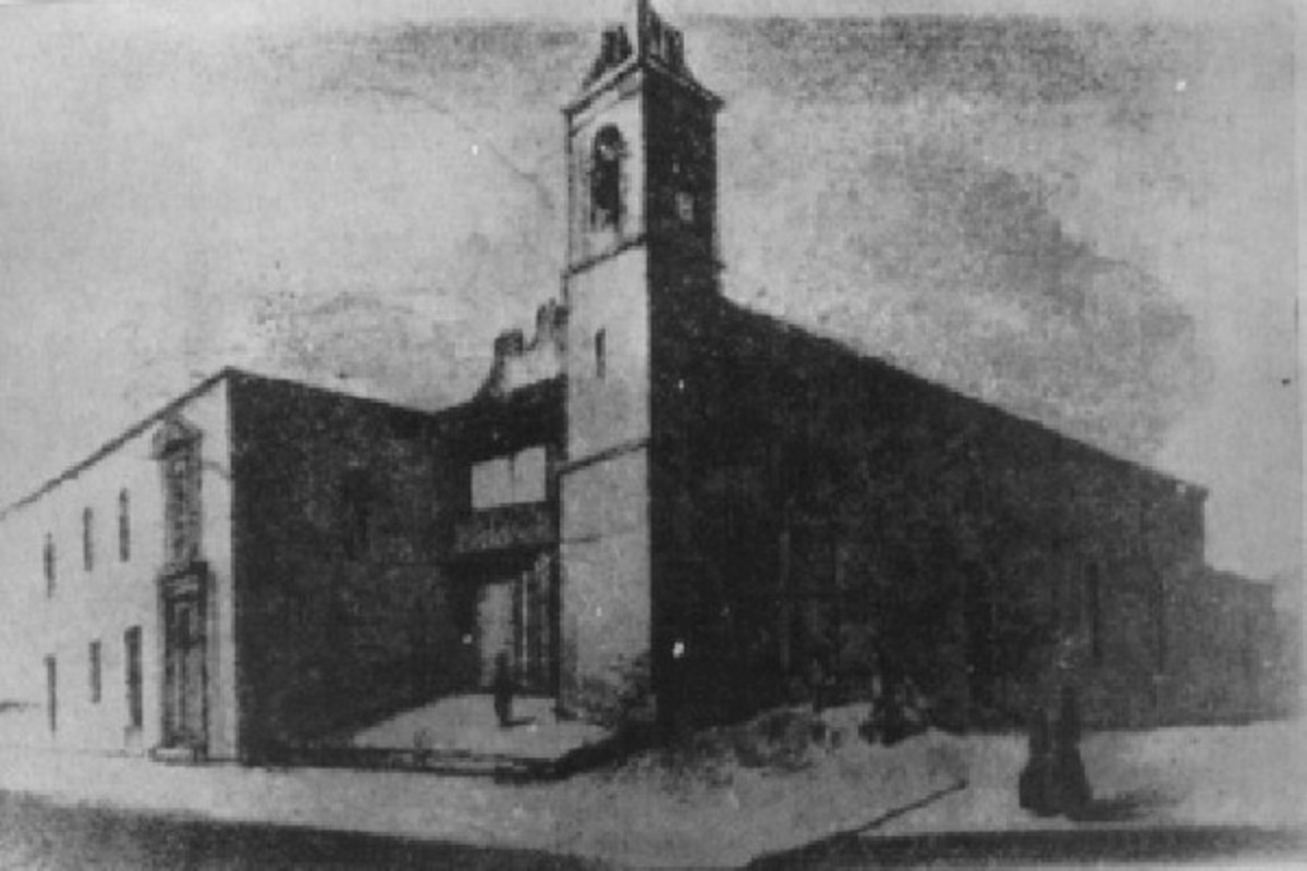 The Hospital de San Felipe in Havana (in 1900). (DRAWING: PUBLIC DOMAIN)