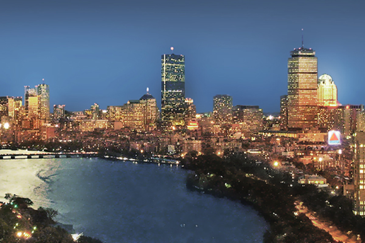 Boston skyline from Student Village II at Boston University. (PHOTO: HENRY HAN/WIKIMEDIA COMMONS)
