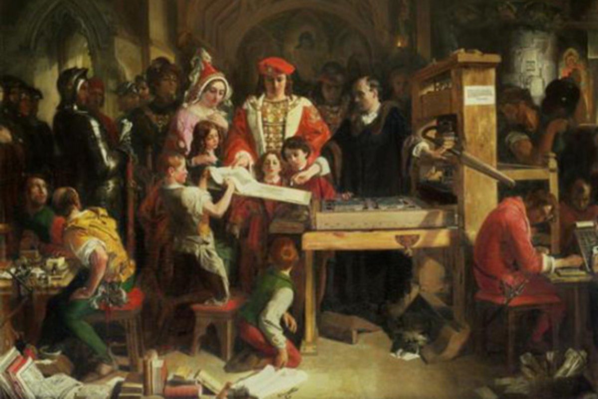 By JoVE, the essence of academic publishing is changing. (PAINTING: CAXTON SHOWING THE FIRST SPECIMEN OF HIS PRINTING TO KING EDWARD IV AT THE ALMONRY, WESTMINSTER, DANIEL MACLISE, 1851)