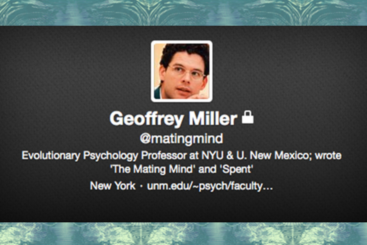 After the negative response to a recent tweet, Geoffrey Miller locked his personal account. (TWITTER)