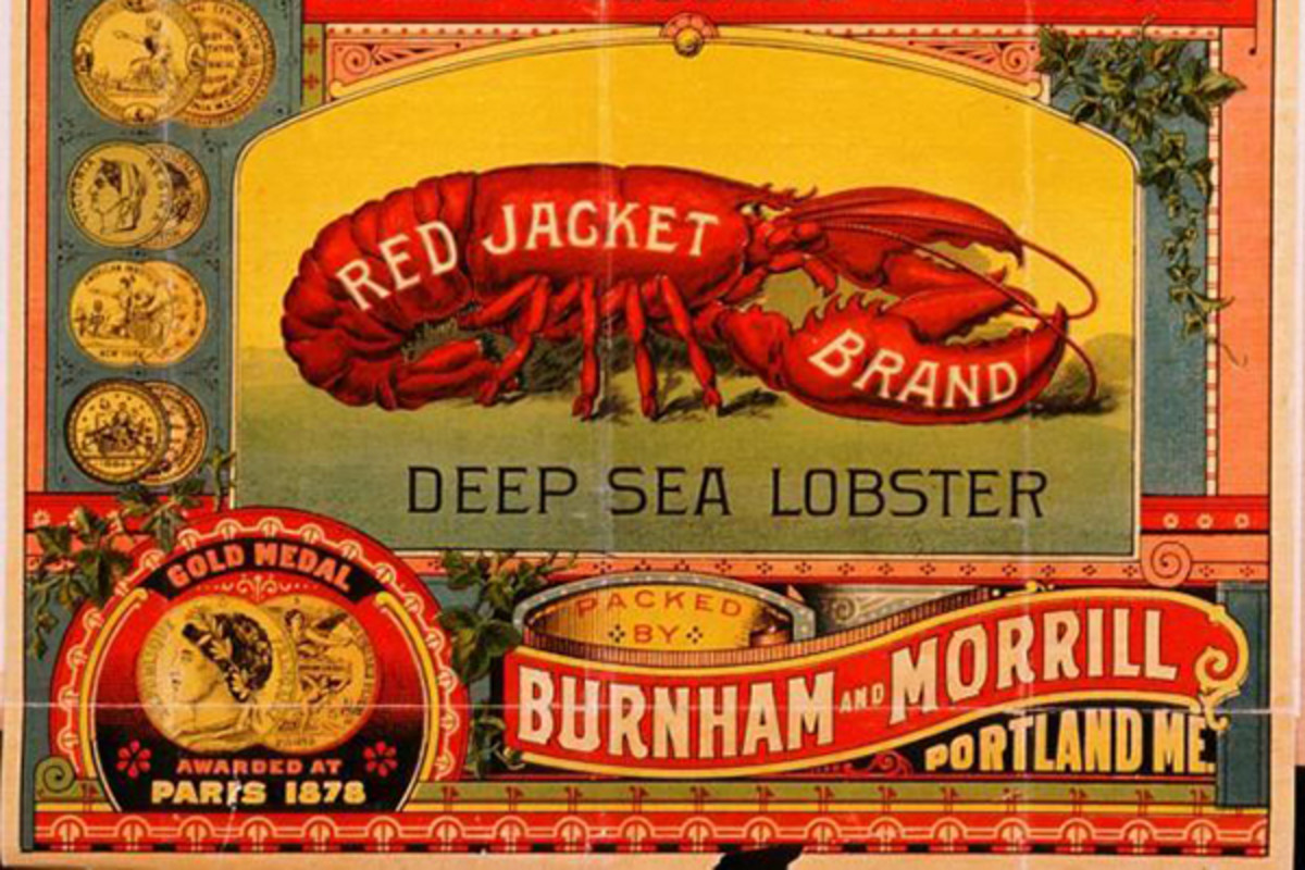 "A trademark label for canned ""deep sea"" lobster that was submitted to the Maine Secretary of State in 1891. (PHOTO: PUBLIC DOMAIN)"