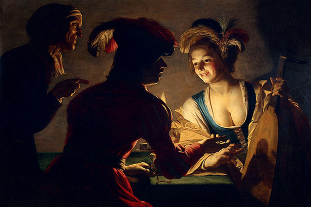 "Hate to break it to you, traditional matchmakers, but you're being supplanted by algorithms. (PAINTING: ""DE KOPPELAARSTER (THE MATCHMAKER),"" GERARD VAN HONTHORST, 1625)"