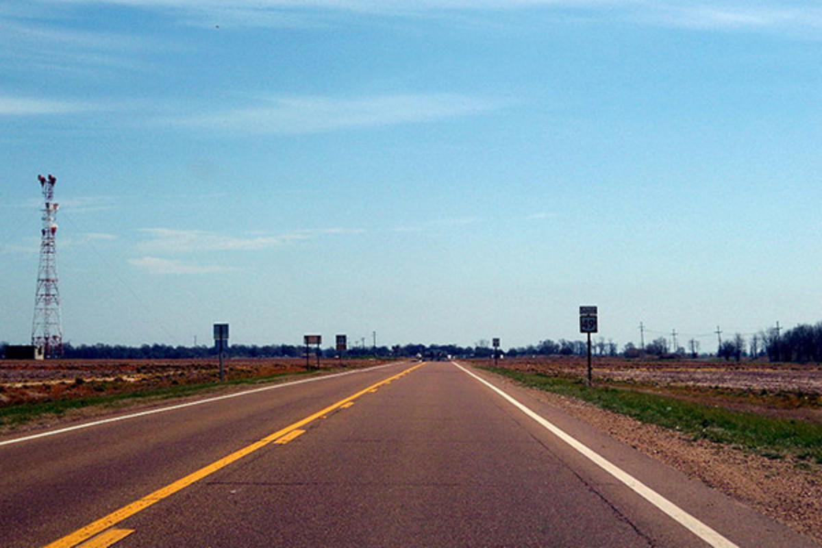 US 49 runs through the Mississippi Delta. (PHOTO: BRANDONRUSH/WIKIMEDIA COMMONS)