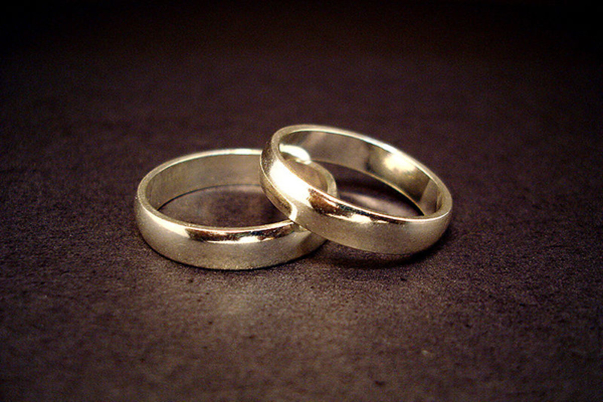 A pair of wedding rings. (PHOTO: JEFF BELMONTE/WIKIMEDIA COMMONS)