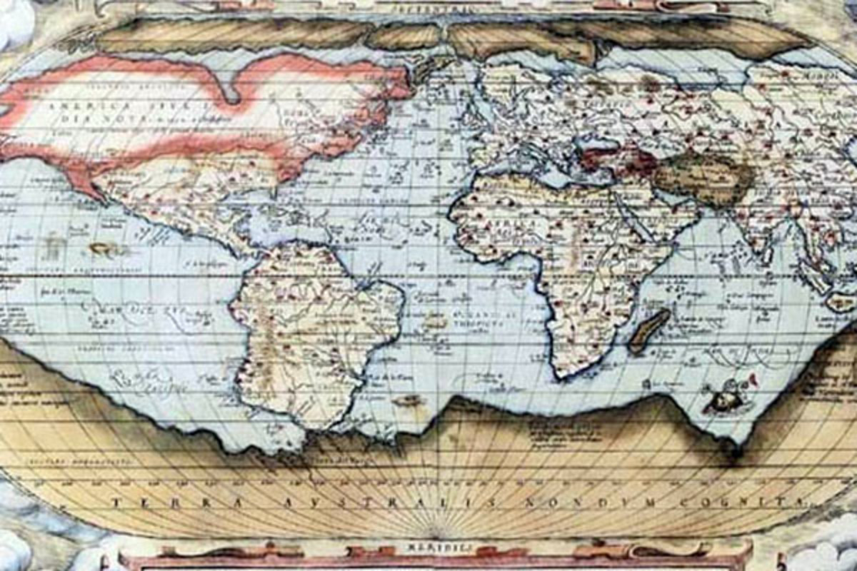 Ortelius world map 1570. (MAP: PUBLIC DOMAIN)