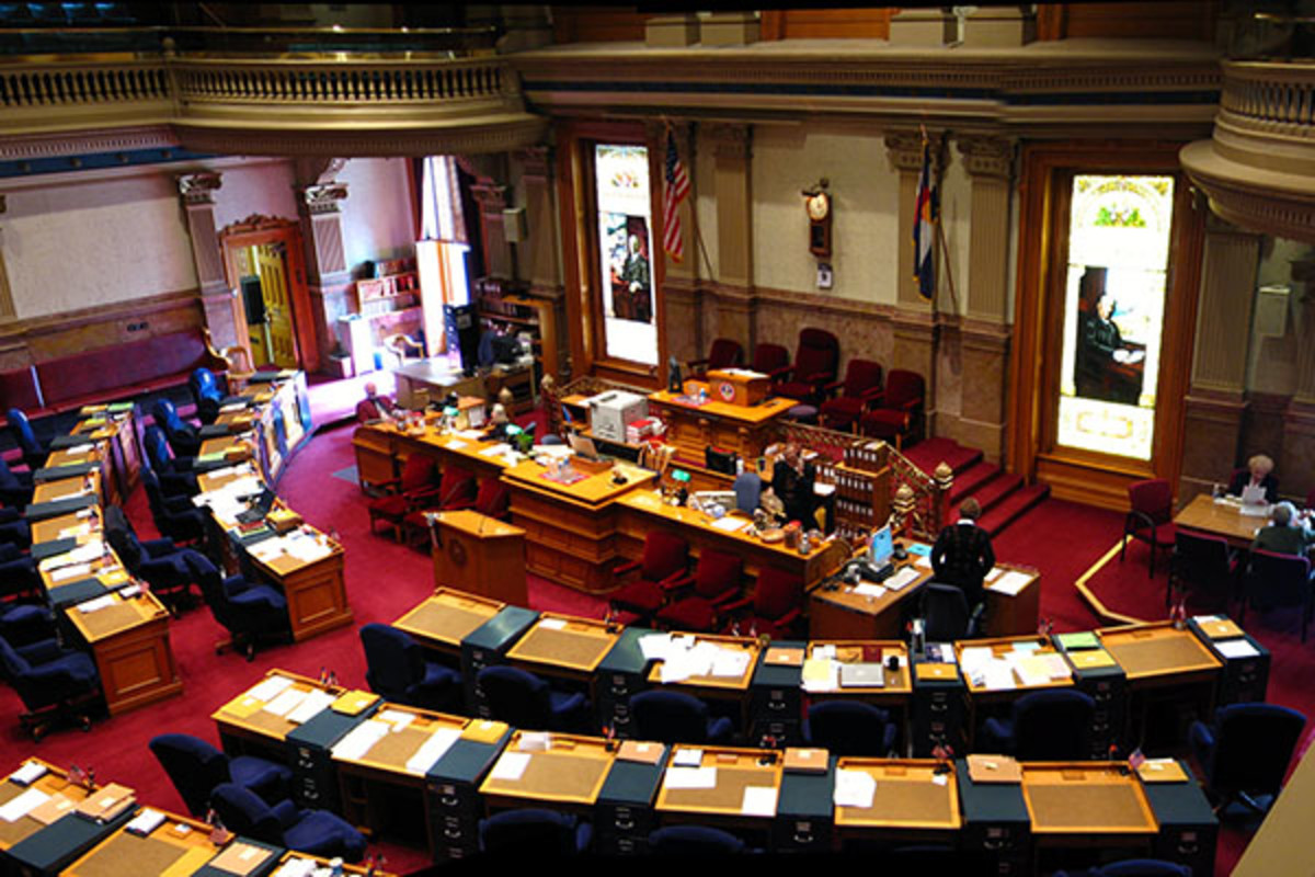The state senate chamber in Colorado. (PHOTO: GREG O'BEIRNE/WIKIMEDIA COMMONS)