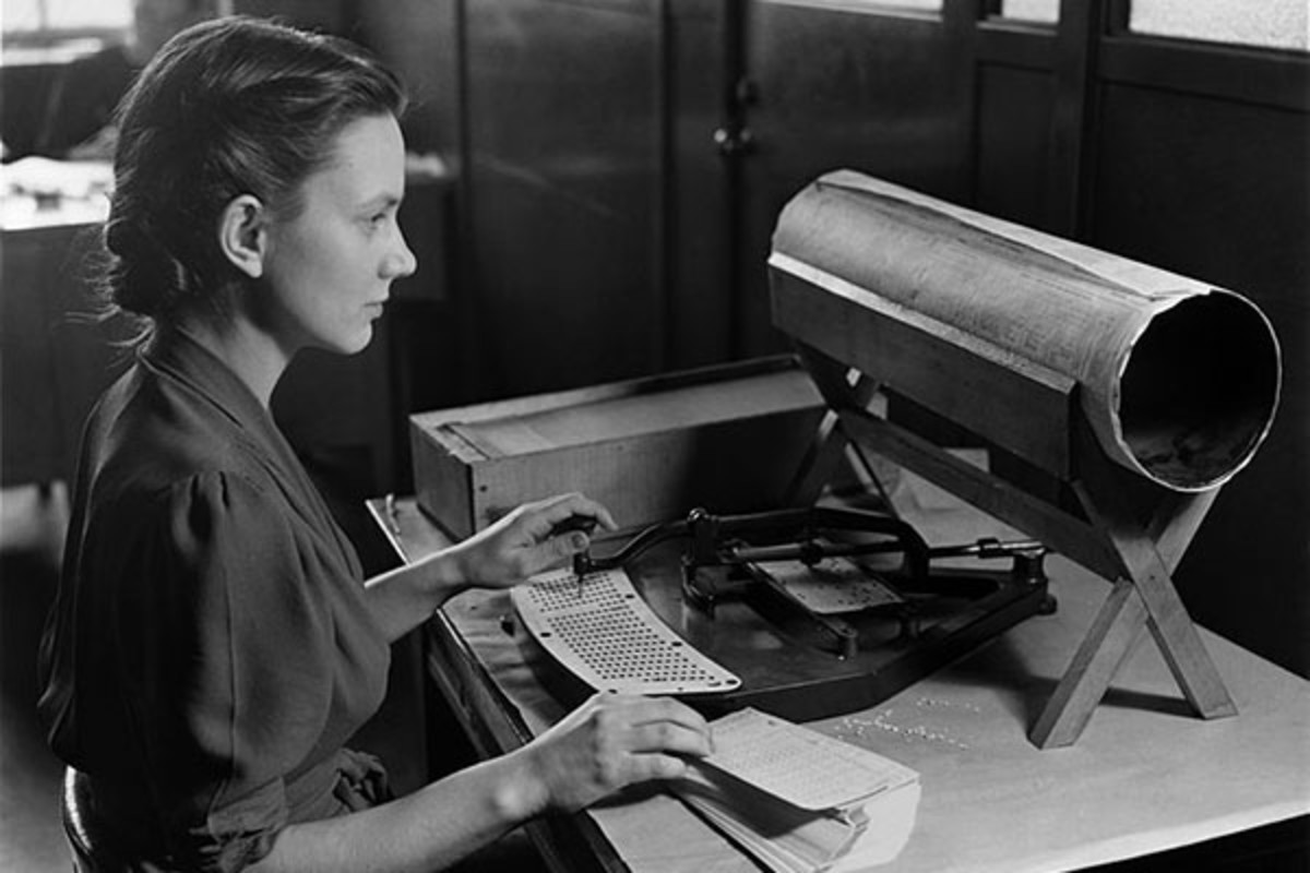 Transcription of census data using a keyboard punch circa 1940. (PHOTO: PUBLIC DOMAIN)