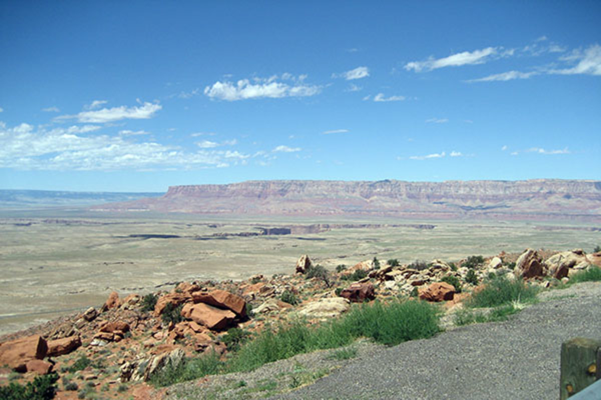 Panoramic view of Hopi Reservation from Arizona State Route 264 a few miles from Oraibi. (PHOTO: PUBLIC DOMAIN)