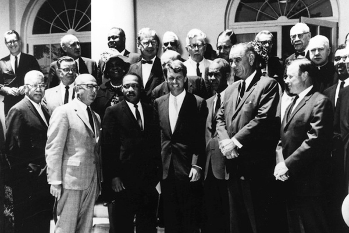 Lyndon Johnson and Robert Kennedy with civil rights leaders, June 22, 1963. (PHOTO: JOHN F. KENNEDY LIBRARY)