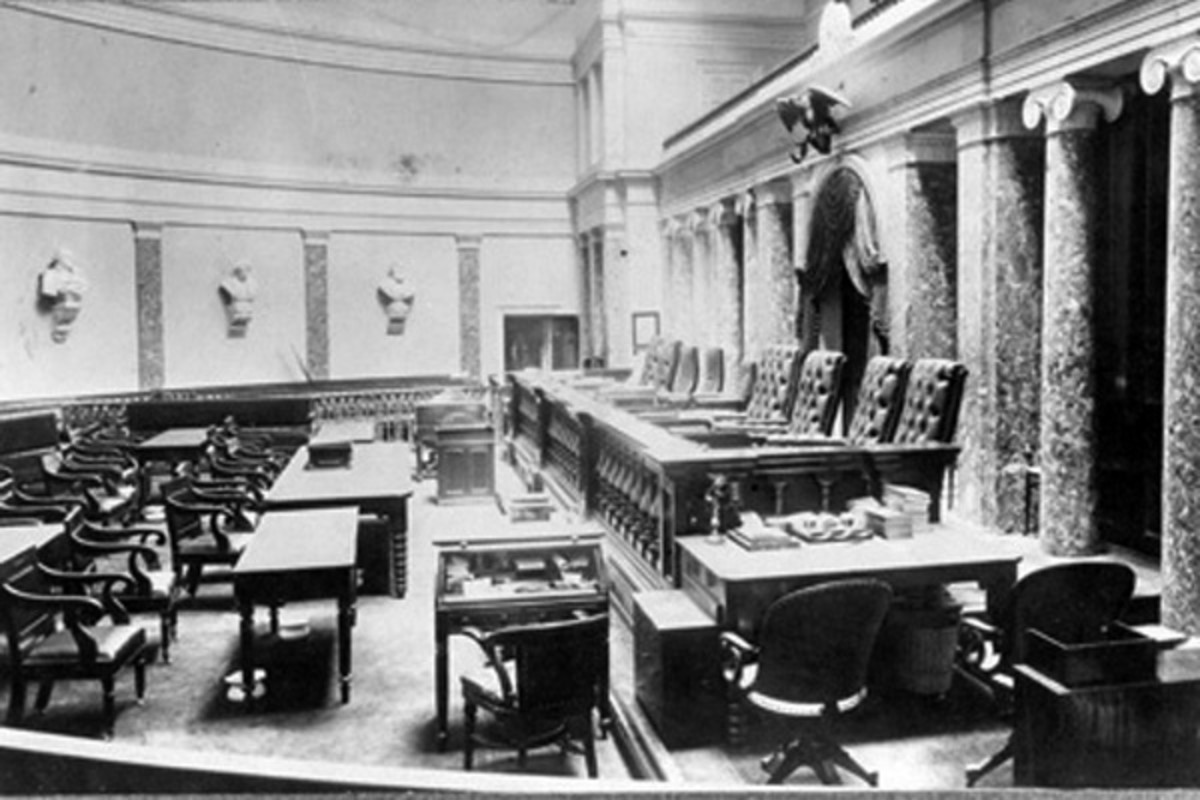 From the 1860s until the 1930s, the court sat in the Old Senate Chamber of the U.S. Capitol. (PHOTO: PUBLIC DOMAIN)