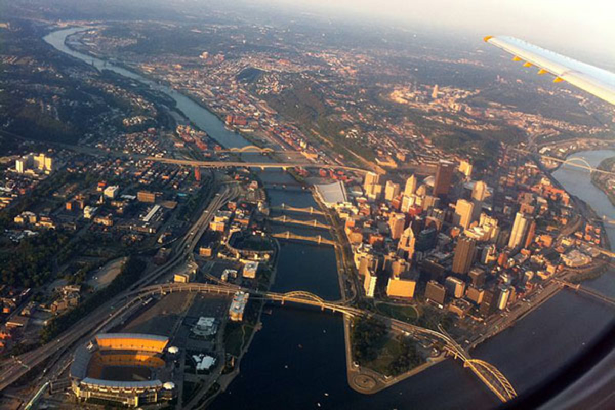 An aerial view of Pittsburgh. (PHOTO: PHILLQ23/WIKIMEDIA COMMONS)
