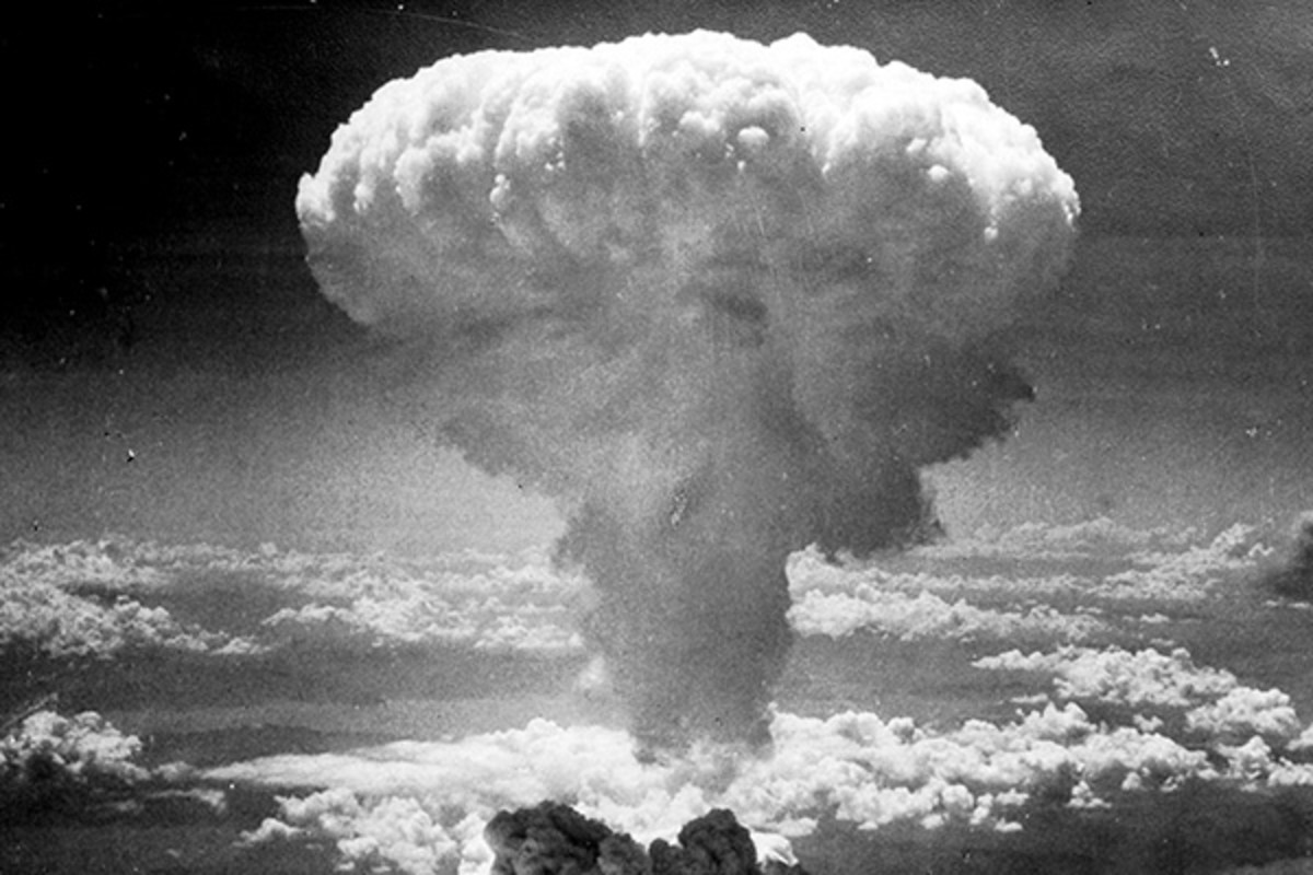 Mushroom cloud from the atomic bombing of Nagasaki, Japan, on August 9, 1945. (PHOTO: PUBLIC DOMAIN)
