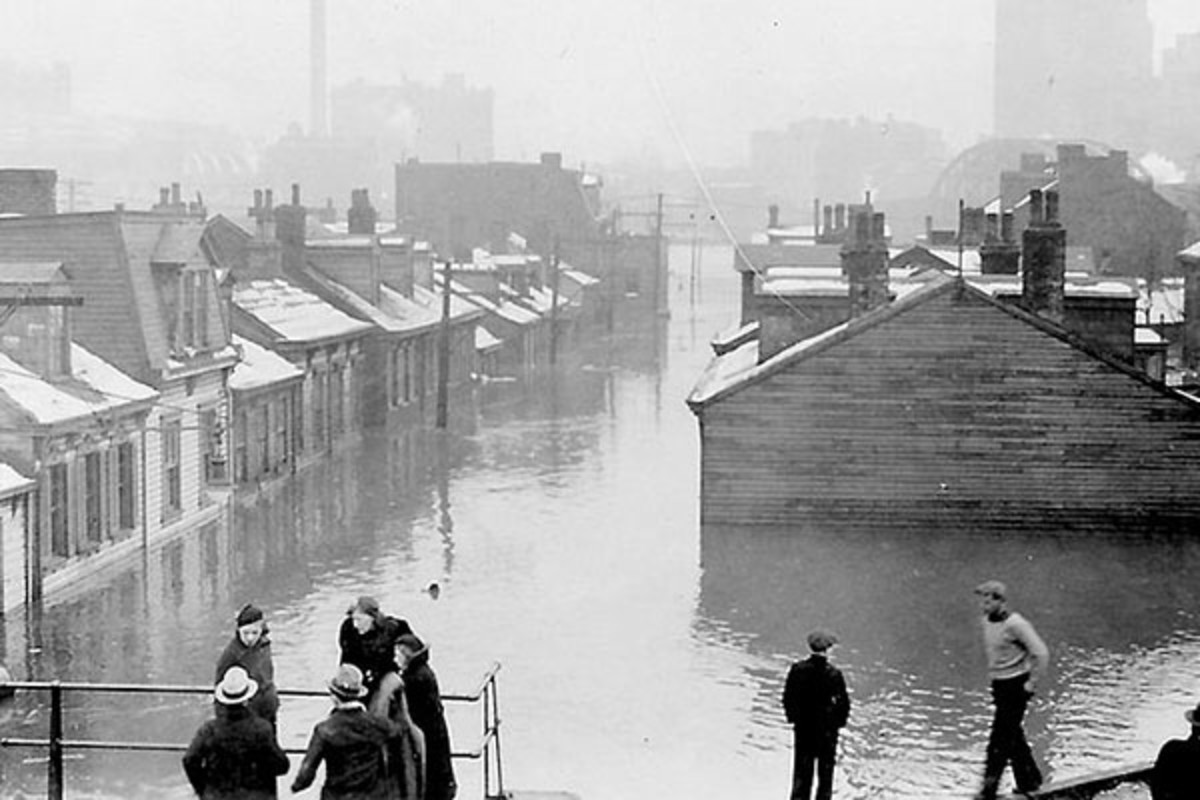 Pittsburgh floods in 1936. (PHOTO: PUBLIC DOMAIN)