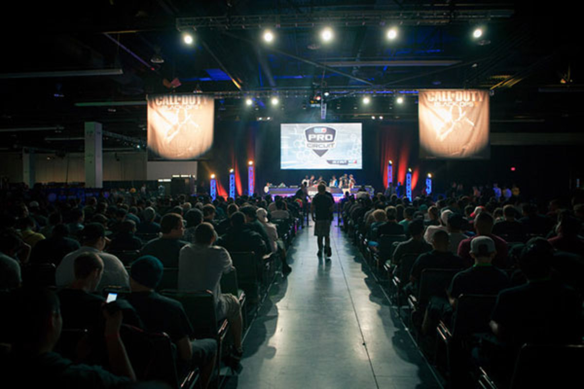 Call of Duty at the MLG Spring Championship. (PHOTO: ENRIQUE ESPINOZA/MLG)