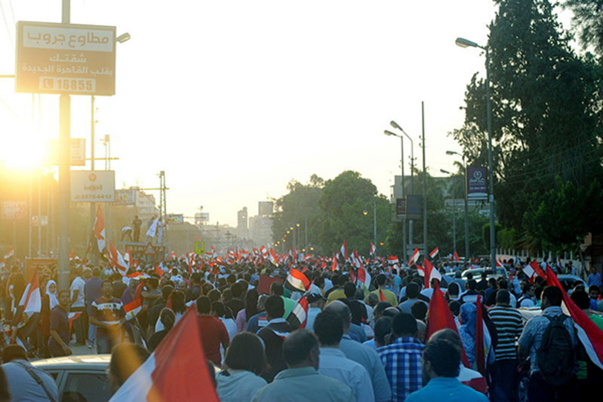 Anti-Morsi demonstrators marching in Cairo on June 28. (PHOTO: LILLIAN WAGDY/WIKIMEDIA COMMONS)
