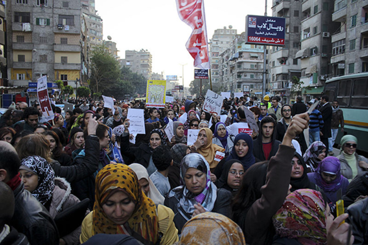 Anti sexual harassment march to Tahrir Square on February 6, 2013. (PHOTO: GIGI IBRAHIM/WIKIMEDIA COMMONS)