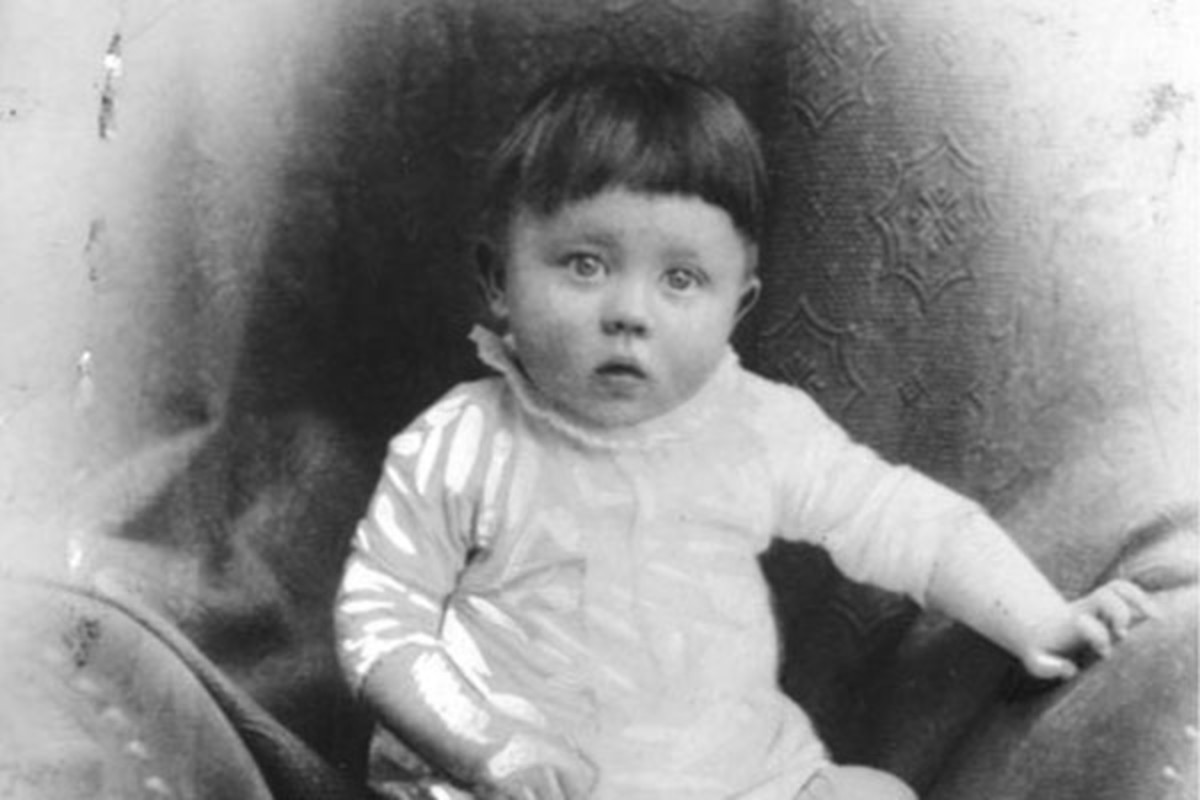 Adolf Hitler as an infant (c. 1889–1890). (PHOTO: PUBLIC DOMAIN)