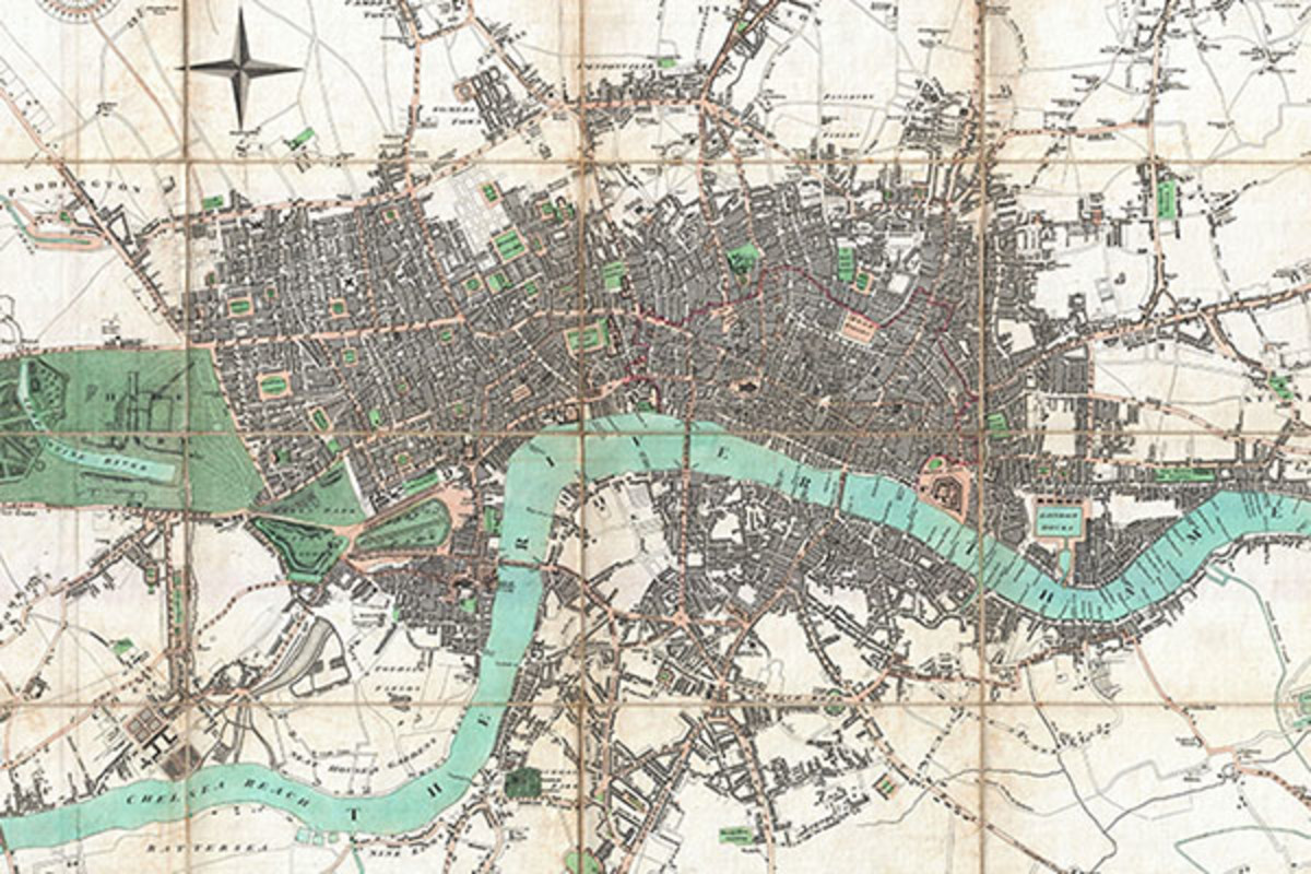 London in 1806. (MAP: PUBLIC DOMAIN)