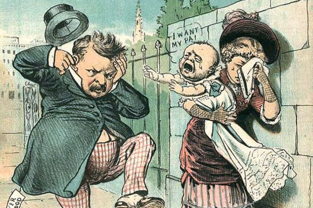 An anti-Grover Cleveland political cartoon of 1884. (ILLUSTRATION: PUBLIC DOMAIN)
