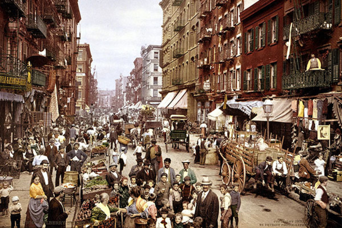 Manhattan's Little Italy, Lower East Side, circa 1900. (PHOTO: LIBRARY OF CONGRESS)