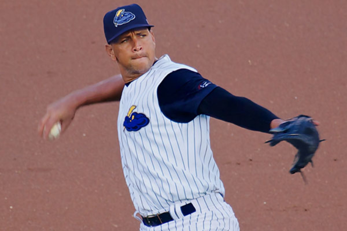 Rodriguez playing for the Trenton Thunder, the Yankees' AA affiliate, in 2013. (PHOTO: GBRUNETT/WIKIMEDIA COMMONS)