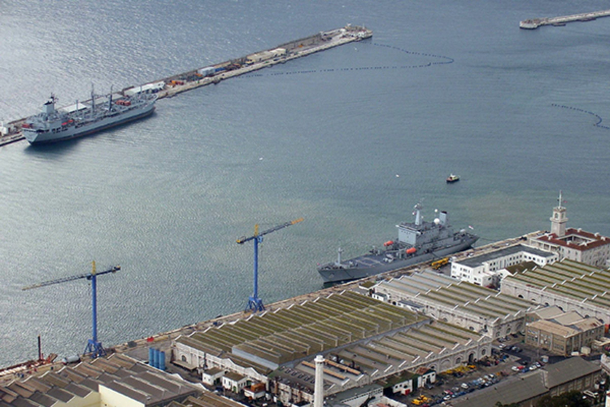 The Royal Navy's base in Gibraltar. (PHOTO: PUBLIC DOMAIN)