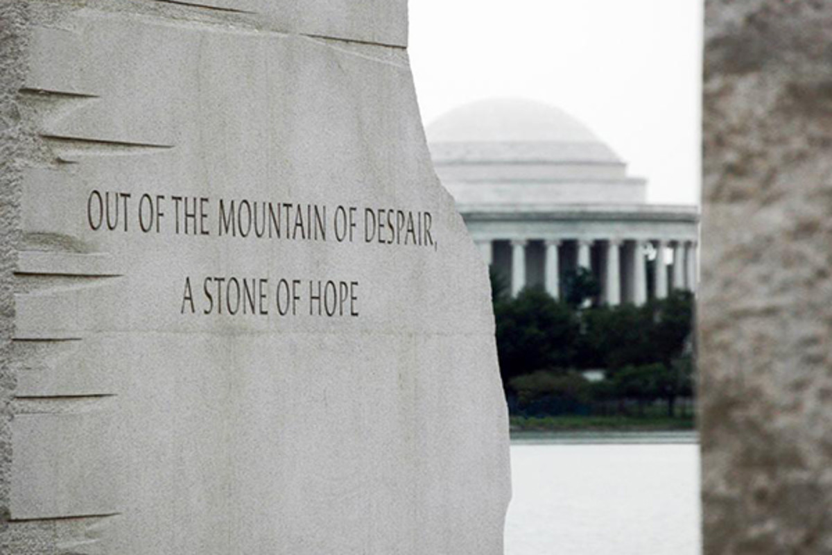 """With this faith we will be able to hew out of the mountain of despair a stone of hope."" From the I Have a Dream speech, served as inspiration for the The King National Memorial. (PHOTO: PUBLIC DOMAIN)"