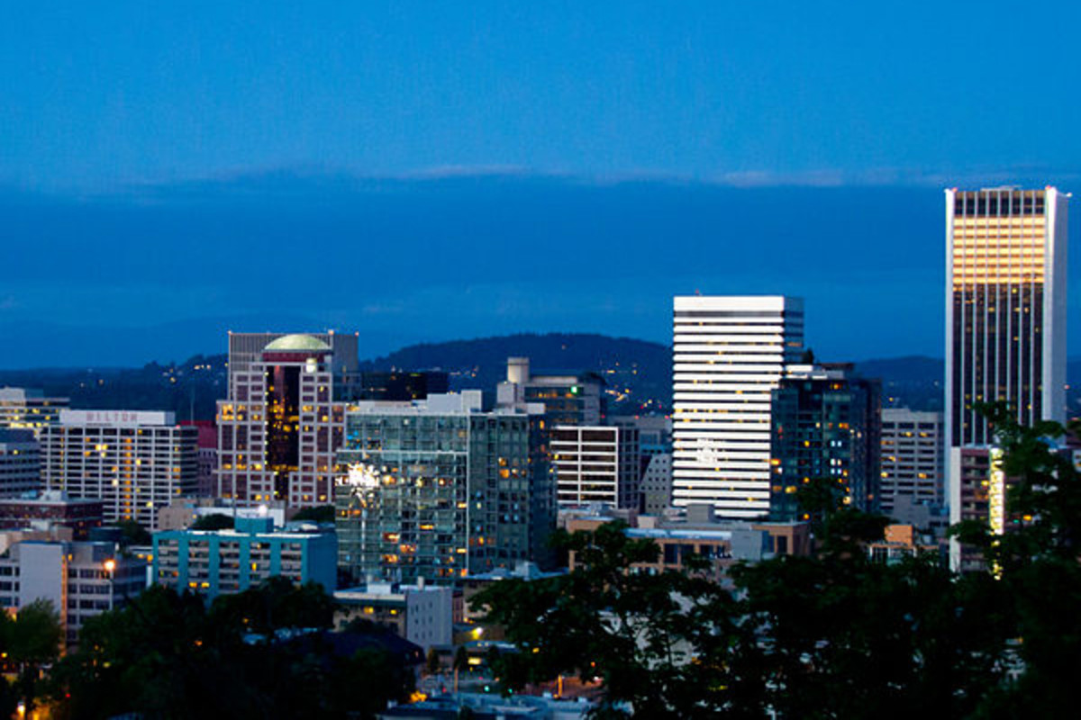 Portland's skyline. (PHOTO: RAZVAN ORENDOVICI/WIKIMEDIA COMMONS)