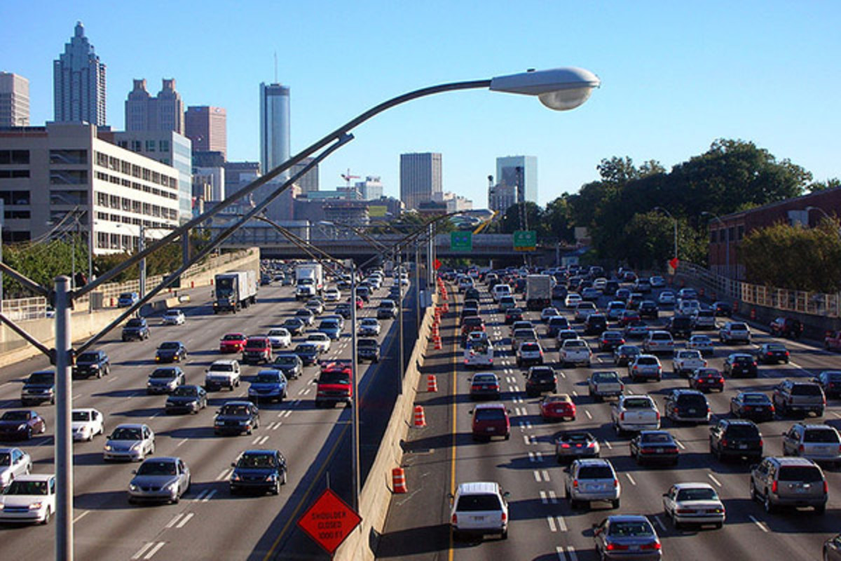 The I-75/I-85 in Atlanta, Georgia. (PHOTO: ATLANTACITIZEN/WIKIMEDIA COMMONS)