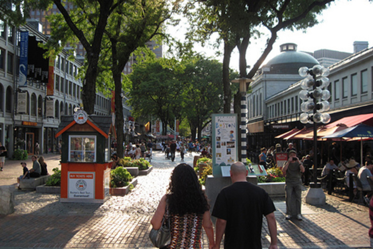 Quincy Market, Boston. (PHOTO: KAID BENFIELD)