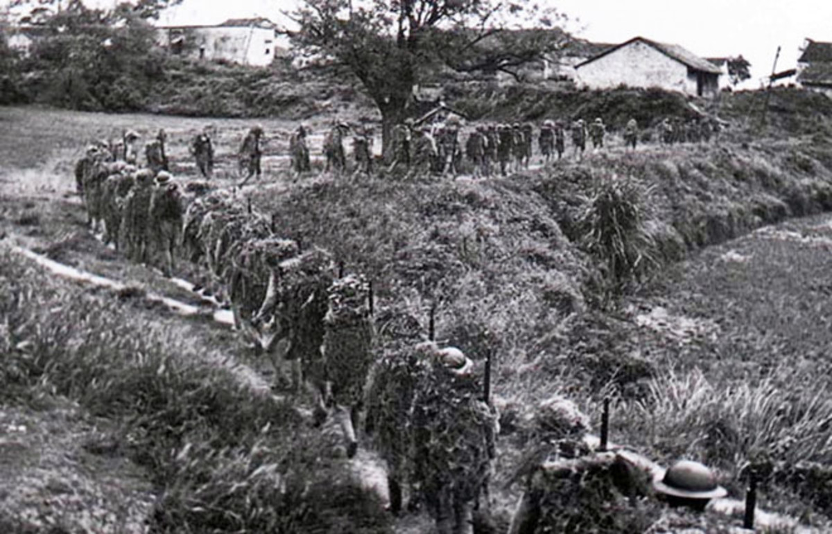 National Revolutionary Army soldiers march to the front in 1939. (Photo: Public Domain)