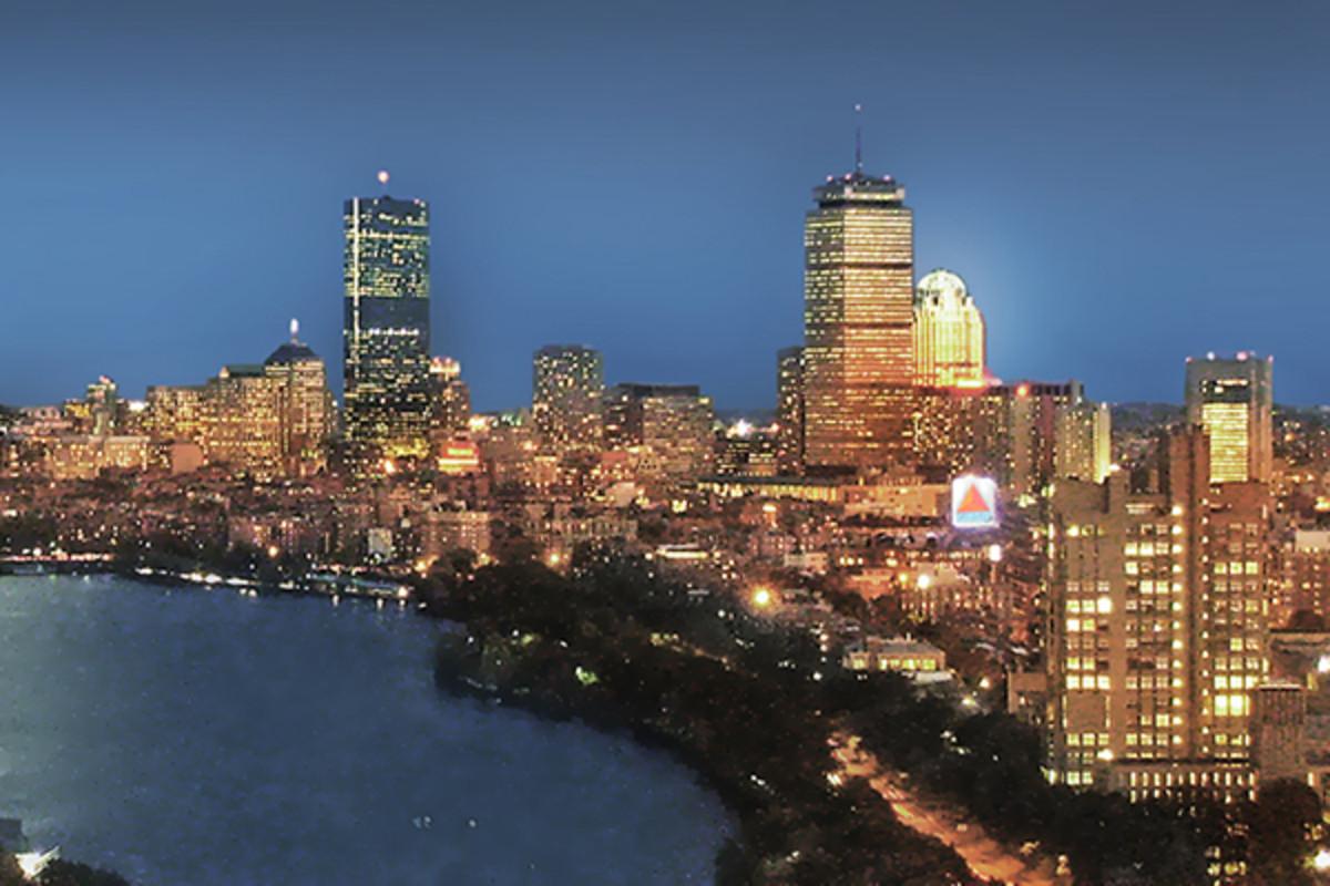 Boston skyline from Student Village II at Boston University. (PHOTO: HENRY HAN/WIKIMEDIA COMMONS)