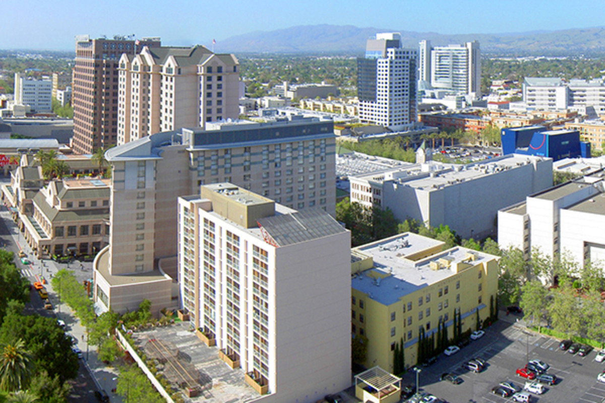 twitter doubles silicon valley office. Overhead Of Downtown San Jose. (PHOTO: XATSUKEX/WIKIMEDIA COMMONS) Twitter Doubles Silicon Valley Office