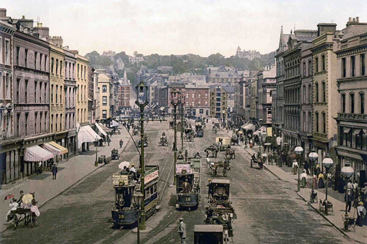 Patrick Street in Cork, Ireland c.1890–1900. (PHOTO: PUBLIC DOMAIN)