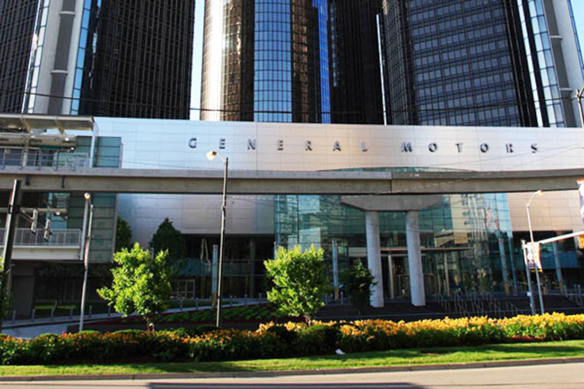 The Renaissance Center is the world headquarters of General Motors. (PHOTO: JAMES MARVIN PHELPS/WIKIMEDIA COMMONS)
