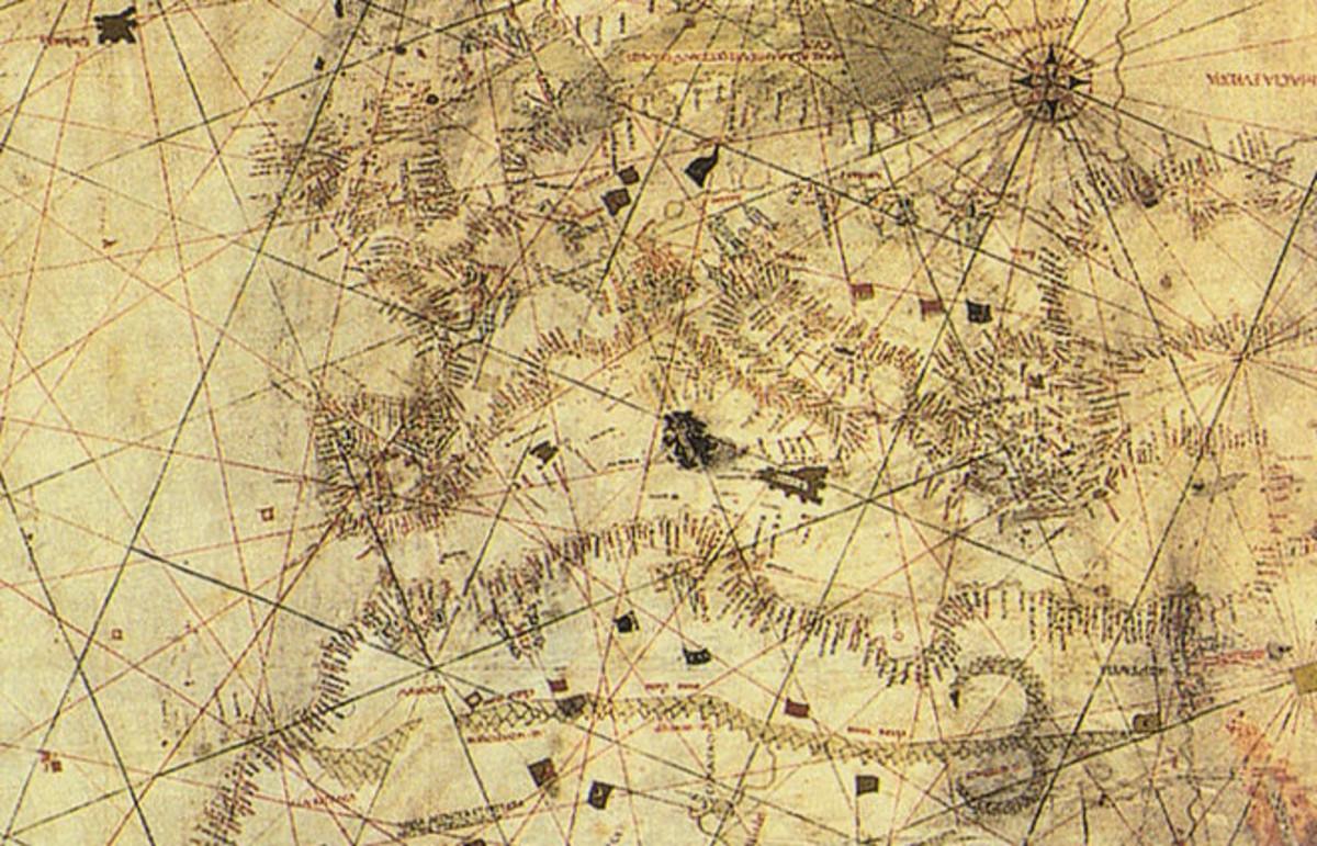 Columbus Map, drawn ca. 1490 in the Lisbon workshop of Bartolomeo and Christopher Columbus. (Photo: Bibliothèque Nationale de France/Wikimedia Commons)